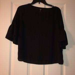 2 for $25 Black Blouse with Short Bell Sleeve